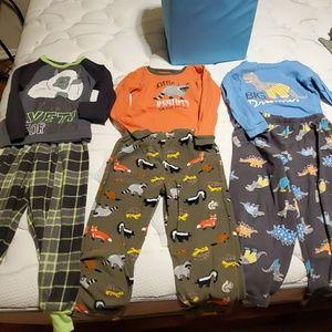 3 pairs of 5t  pajamas